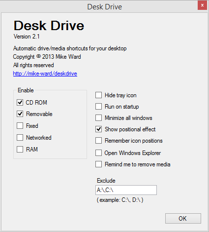 Desk Drive screen shot